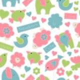 Cute cartoon seamless pattern Stock Photography