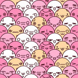Cute cartoon seamless pattern Stock Images
