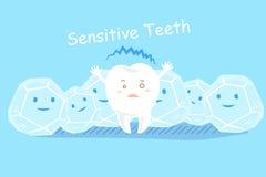Cute cartoon sensitive teeth Stock Photo