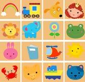 Cute cartoon set Royalty Free Stock Photo