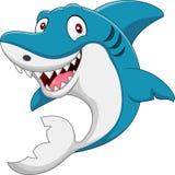 Cute cartoon shark. Illustration of cute cartoon shark vector illustration