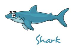Cute cartoon shark Royalty Free Stock Image