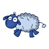Cute cartoon sheep vector illustration Royalty Free Stock Images