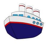 Cute Cartoon Ship Royalty Free Stock Photography