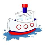 Cute cartoon ship. Vector illustration isolated on white background. Vector vehicles. vector illustration