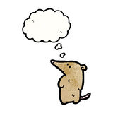 Cute cartoon shrew with thought bubble Stock Photography