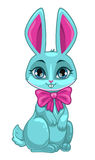 Cute cartoon sitting bunny Royalty Free Stock Images