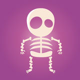 Cute cartoon skeleton. Funny illustration of a cute cartoon skeleton Stock Photos
