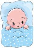 Cute Cartoon Sleeping Baby Stock Photos