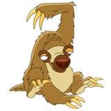 Cute cartoon sloth Stock Images