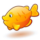 Cute cartoon small fish. Vector clip art illustration with simple gradients. Stock Photo