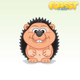 Cute Cartoon Small Hedgehog. Funny Vector Animal Royalty Free Stock Images