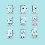Cute cartoon smart phone Stock Images