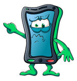 Cute cartoon smartphone Royalty Free Stock Photo