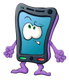Cute cartoon smartphone Royalty Free Stock Image