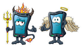 Cute cartoon smartphone Stock Photography