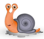 Cute Cartoon Snail Stock Photography