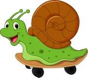 Cute cartoon snail. Illustration of Cute cartoon snail Stock Photography