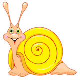 Cute cartoon snail Royalty Free Stock Photography