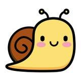 Cute Cartoon Snail Isolated On White Background Stock Photos