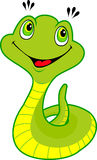 Cute cartoon snake. Childhood illustration Stock Images
