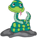 Cute cartoon snake. Vector illustration for children Royalty Free Stock Images