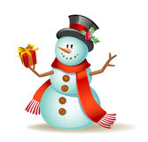 Cute cartoon snowman Royalty Free Stock Photos