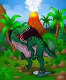 Cute cartoon spinosaurus. Vector illustration of a cartoon dinosaur Royalty Free Stock Image
