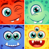 Cute cartoon square monsters Royalty Free Stock Photos