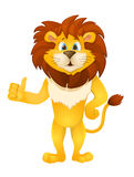 Cute cartoon standing lion. vector Stock Photo