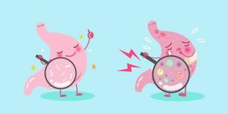 Cute cartoon stomach stock illustration