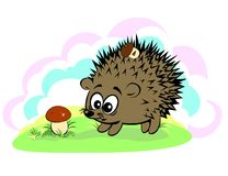 A cute cartoon style hedgehog Stock Photos