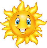 Cute cartoon sun Stock Photography