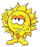 Cute cartoon sun Stock Image