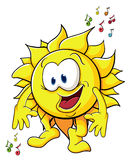 Cute cartoon sun Stock Photos