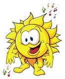 Cute cartoon sun Stock Photos