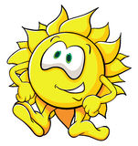 Cute cartoon sun Stock Image