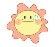 Cute cartoon sun Stock Photo