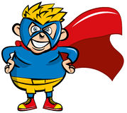 Cute cartoon Superboy Stock Photos