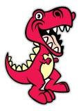 Cute cartoon t-rex dinosaur Stock Images