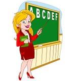 Cute cartoon teacher Stock Images