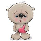 Cute Cartoon Teddy Bear Stock Photo