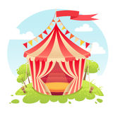 Cute cartoon  tent show circus Royalty Free Stock Photo