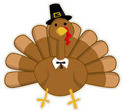 Cute cartoon Thanksgiving turkey Stock Photo