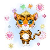 Illustrations for Chinese New Year 2022, year of the Tiger. Lunar new year 2022
