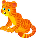 Cute cartoon Tiger. Vector illustration  Royalty Free Stock Images