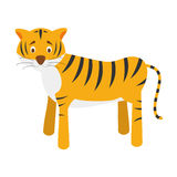 Cute cartoon tiger vector illustration Stock Photography