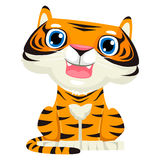 Cute Cartoon Tiger Royalty Free Stock Images