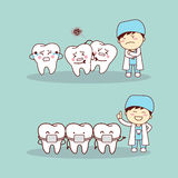 Cute cartoon tooth braces Stock Images