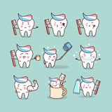 Cute cartoon tooth brush concept Stock Image